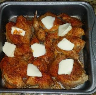 quail in a pan